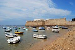 La Caleta castle and harbour, Cadiz. Royalty Free Stock Images