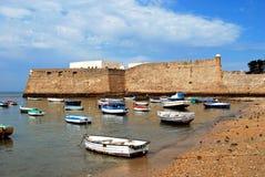 La Caleta castle and harbour, Cadiz. Stock Photos