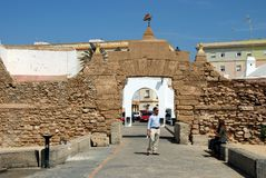 La Caleta entrance arch, Cadiz. Stock Photography