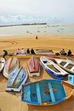 La Caleta, praia urbana em Cadiz, a Andaluzia, Espanha imagem de stock