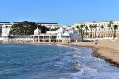 La Caleta-Strand, Cadiz stockbilder