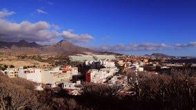La Caleta - van Zuid- Tenerife Spanje stock video