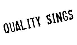 La calidad canta el sello de goma Foto de archivo libre de regalías