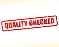 La calidad comprobó el sello del texto Imagen de archivo