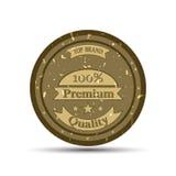 La calidad del premio del emblema del vector Imágenes de archivo libres de regalías