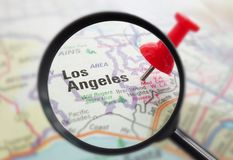 LA California closeup Stock Image