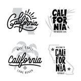 La Californie a rapporté des graphiques de style de vintage de T-shirt réglés Illustration de vecteur illustration de vecteur