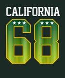 La Californie sportive, image de vecteur Photos libres de droits