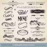 La caligrafía fijó 3 Imagenes de archivo