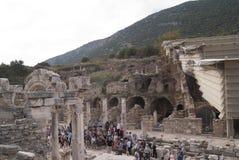 La calle arruinada en Ephesus Foto de archivo