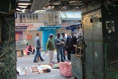 La calle de Apliu es una calle en el impostor Shui Po Imágenes de archivo libres de regalías