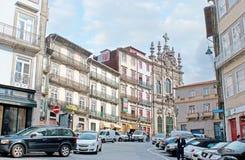 La calle de Flores en Oporto Fotos de archivo