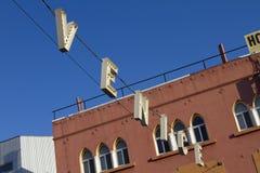 La calle de la playa de Venecia firma adentro California Fotografía de archivo