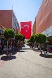 La calle de las compras en Alanya Foto de archivo