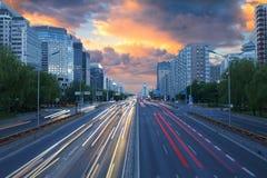 La calle de las finanzas, Pekín fotografía de archivo libre de regalías