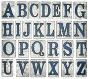 La calle de New Orleans teja el alfabeto de Digitaces