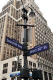 La calle de Nueva York canta Fotografía de archivo libre de regalías