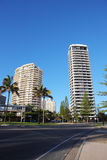 Calle de la ciudad de la playa del oro Foto de archivo libre de regalías