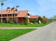 La calle en Nida, Lituania fotografía de archivo