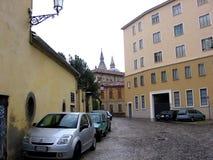 La calle en Padua Italia Europen Padua es una pequeña ciudad localizó 38 kilómetros al oeste de Venecia Fotografía de archivo libre de regalías