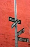 La calle firma adentro Soho Fotografía de archivo libre de regalías