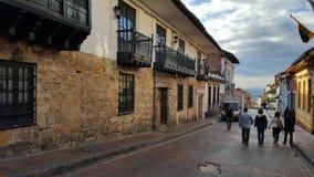 La calle II de Candelaria (Bogotá - Colombia) Imágenes de archivo libres de regalías