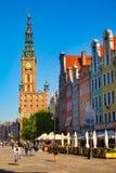 La calle larga del carril en Gdansk Imágenes de archivo libres de regalías