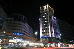 La calle más famosa de Serbia en Belgrado Foto de archivo