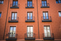 La calle más vieja en la capital de España, la ciudad de Madrid, su a Fotografía de archivo