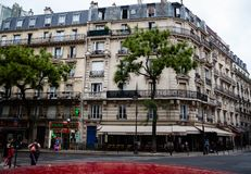 La calle parisiense imágenes de archivo libres de regalías