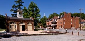 La calle principal de Harpers Ferry un parque nacional Imágenes de archivo libres de regalías