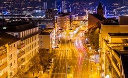 La calle principal en Wuppertal-camareros Fotografía de archivo libre de regalías