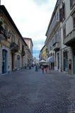 La calle principal hermosa del senigallia en la región de Marche Imagen de archivo
