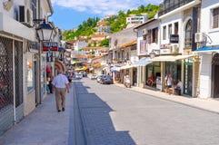 La calle turística Imagenes de archivo