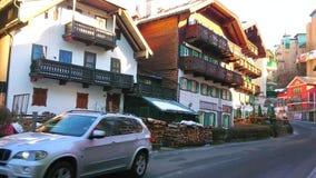 La calle vieja de St Wolfgang, Salzkammergut, Austria metrajes