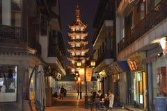 La calle vieja en China meridional Fotografía de archivo