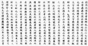 La calligraphie chinoise échantillonne le fond des textes Image stock