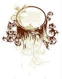 La calligraphie fleurit la vignette Photographie stock libre de droits