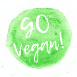 La calligraphie vont Vegan Signe tiré par la main de vecteur Éléments pour la conception Citation de motivation Photo stock