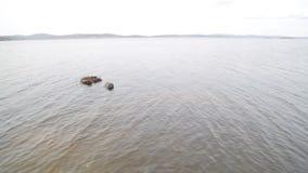 La calma, chiaro lago, paesaggio minimalistic archivi video