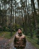 La calma della natura esplora la giungla Fotografie Stock