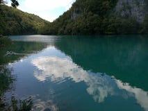 La calma riega Plitvice Imagen de archivo