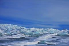 La calotte glaciaire du Groenland Photos stock