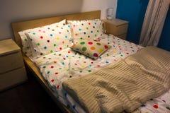 La cama del niño Foto de archivo libre de regalías