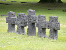 La Cambe German war cemetery, France Royalty Free Stock Photos