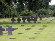 La Cambe German war cemetery, France Royalty Free Stock Photo