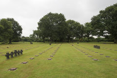 La Cambe German war cemetery, France Royalty Free Stock Photography