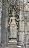 La Cambogia. Siem Reap. Angkor Tom. Danzatore di pietra Fotografie Stock Libere da Diritti