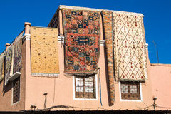 La Camera con i tappeti compera a Marrakesh, Marocco Fotografia Stock