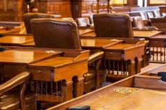 La Camera dei rappresentanti la camera dell'edificio di Texas State Capitol situato in Austin del centro Fotografia Stock Libera da Diritti